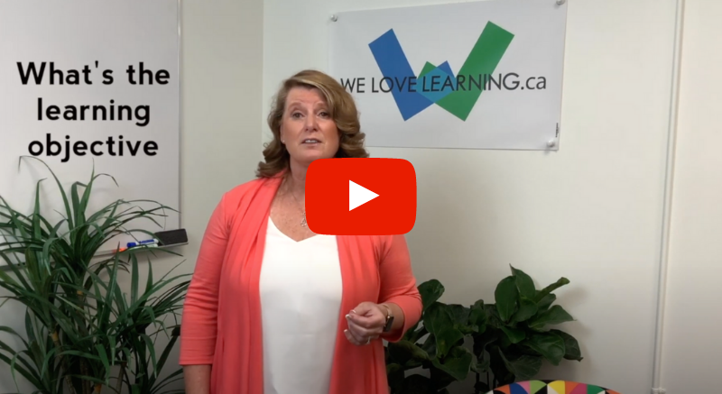 Businesswoman talking about the learning objective.